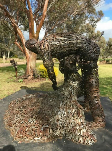 Farmer Sculpture